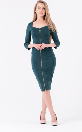Elegant dress with zipper