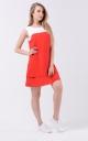 Воздушное двухцветное платье (красно-белое)