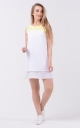 Airy two-tone dress (white-yellow)