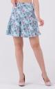 Airy print skirt