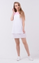 Airy two-tone dress (white-pink)