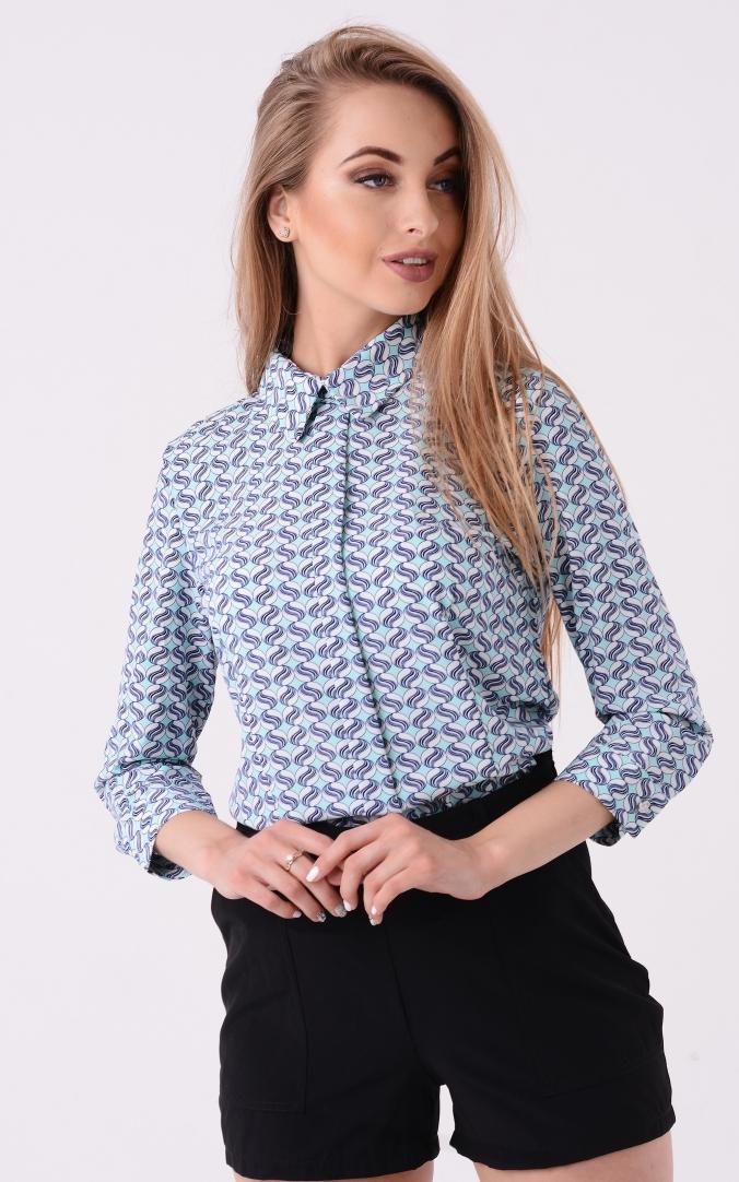 Стильная блузка принт