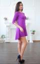 Angora dress with an asymmetrical bottom