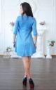 Ангорова сукня з асиметричним низом