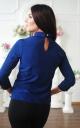 Модна коротка блуза (синя)