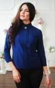 Fashionable short blouse (blue)