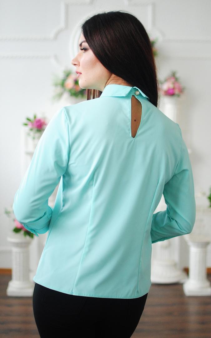 Fashionable short blouse (mint)