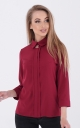 Fashionable short blouse (burgundy)