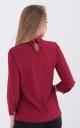 Fashionable short blouse (burgundy)