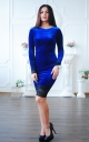 Velvet dress with lace