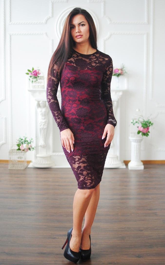Elegant guipure dress