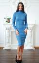 Ангоровое платье-гольф люрекс
