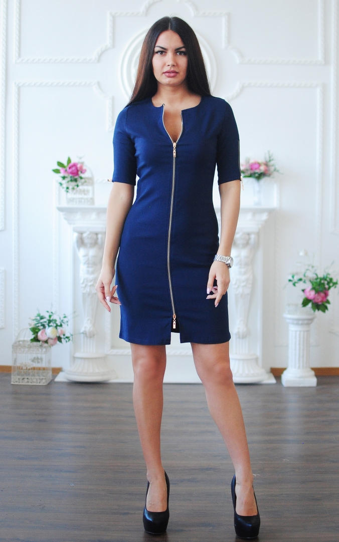 Business denim dress