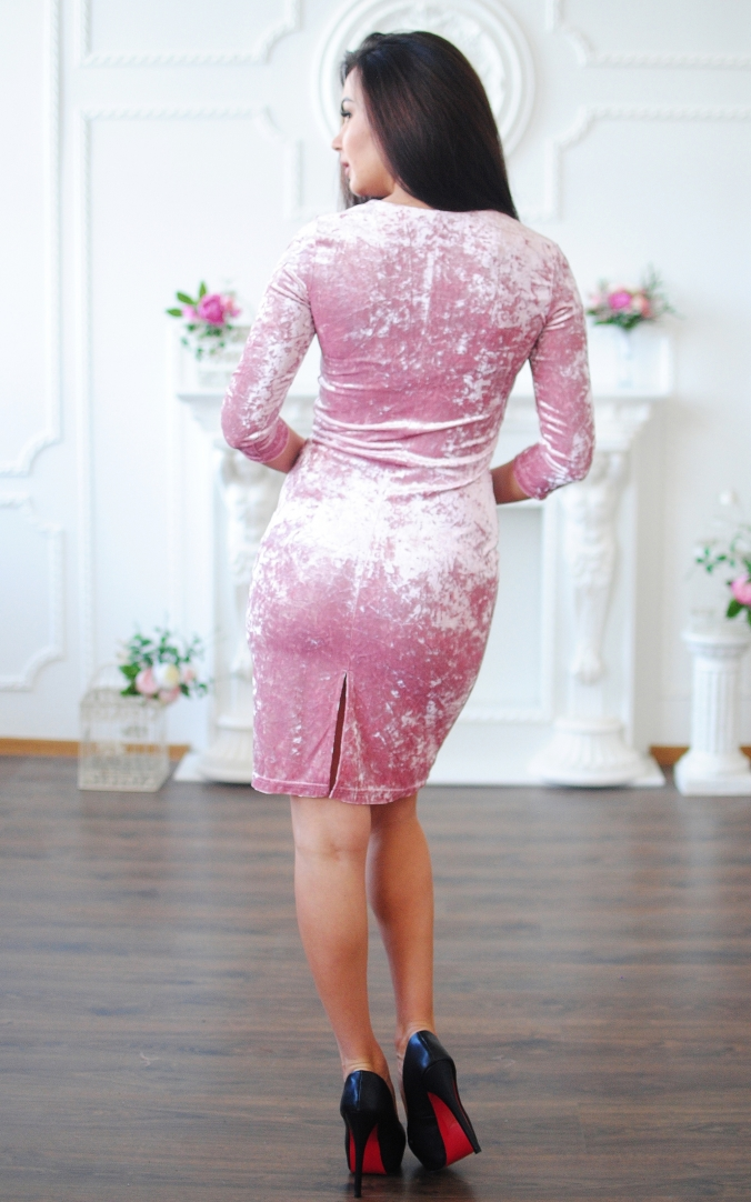 Marble dress with lacing