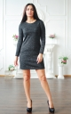 Straight angora dress Lurex