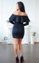 Женственное платье с воланом