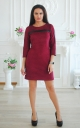 Suited suede dress