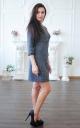 Прямое платье букле