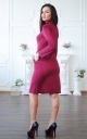 Suede dress with zipper