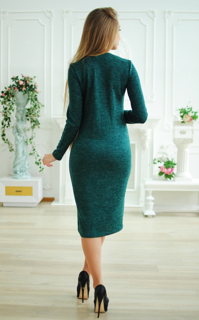 Аngora dress with zipper