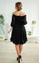 Guipure dress asymmetry