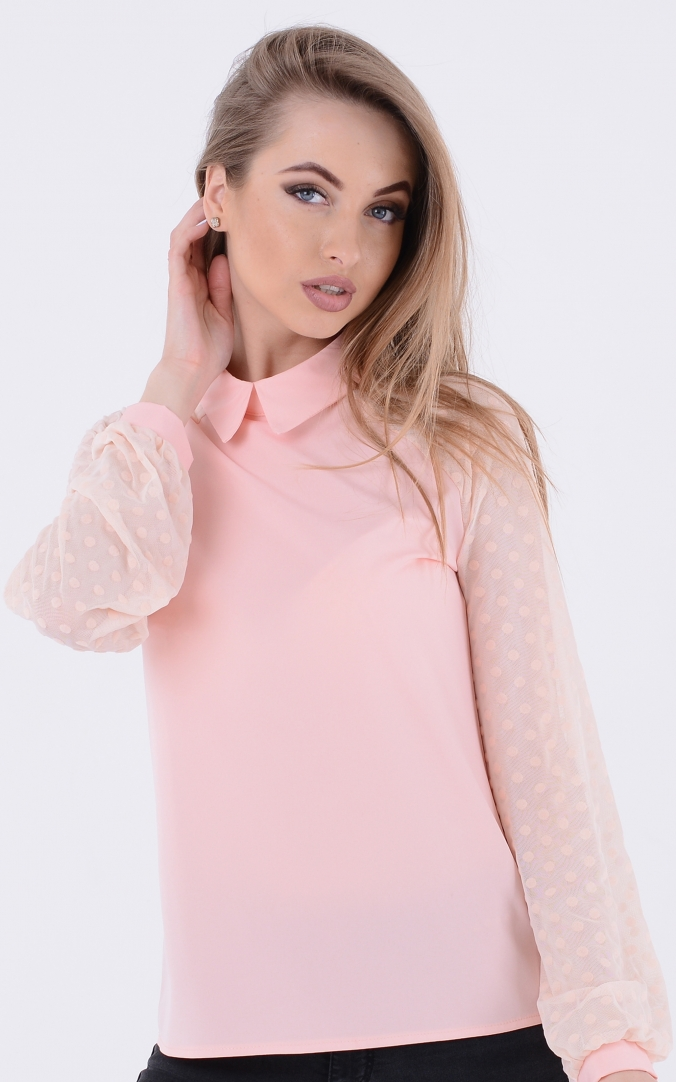 Fashionable blouse peas (pink)