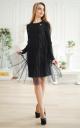 Модное платье с фатином