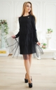 Fashionable dress with tulle