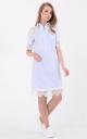 Трендовое платье-рубашка поло (голубое)