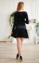 Short velor dress