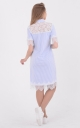 Трендові сукня-сорочка поло (блакитне)