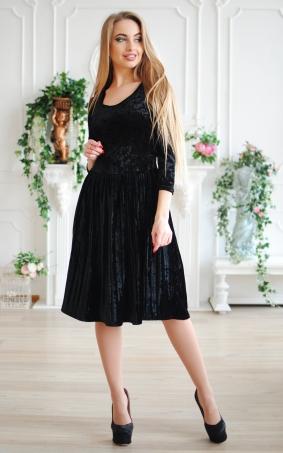 Оригінальна велюрова сукня