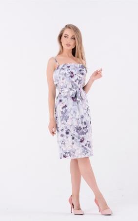 Прямое платье принт