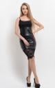 Стильна шкіряна сукня
