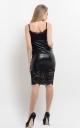 Stylish leather dress