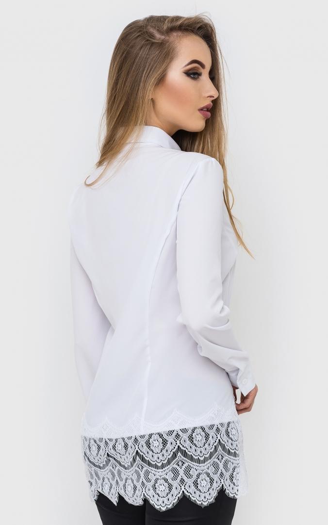 Удлиненная рубашка кружево