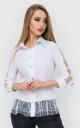 Белая рубашка горох