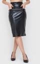 Стильная кожаная юбка