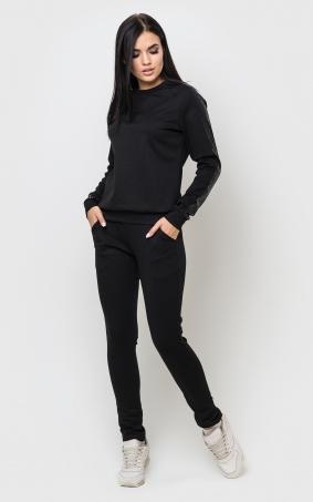Черный костюм пайетки