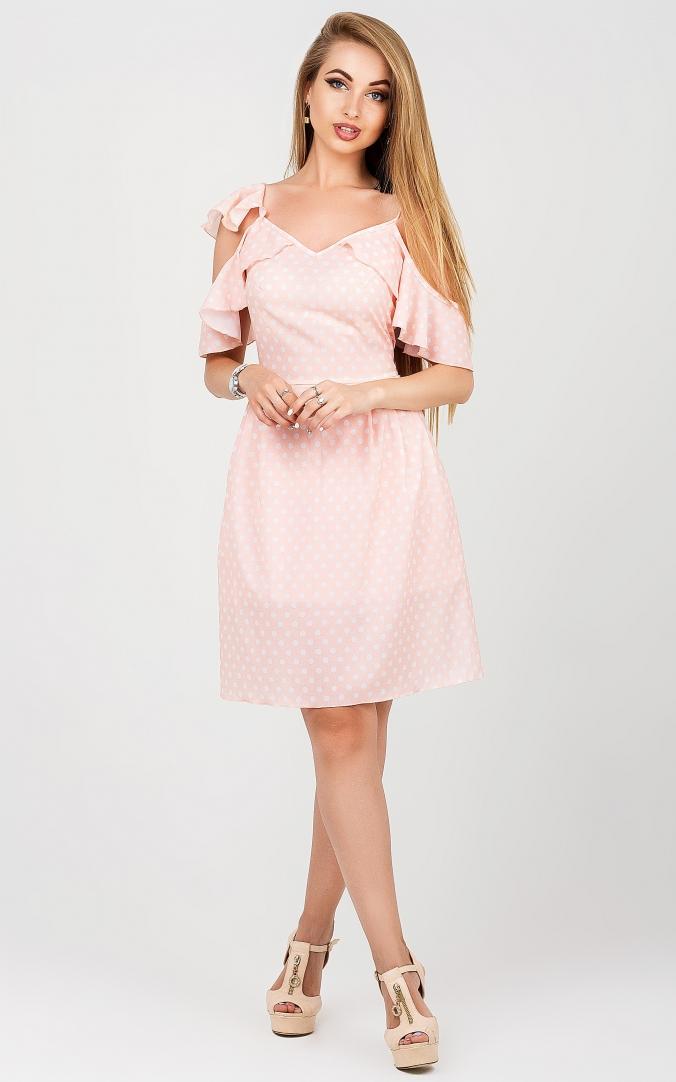 Контрастный летний сарафан (розовый)