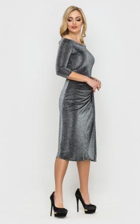 Невероятное платье из люрекса (черное)