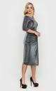 Неймовірна сукня з люрексу (чорна)