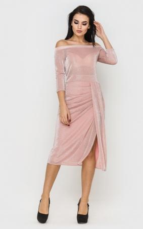 Неймовірна сукня з люрексу (рожева)
