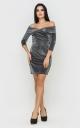 Luxurious short mini dress (black)