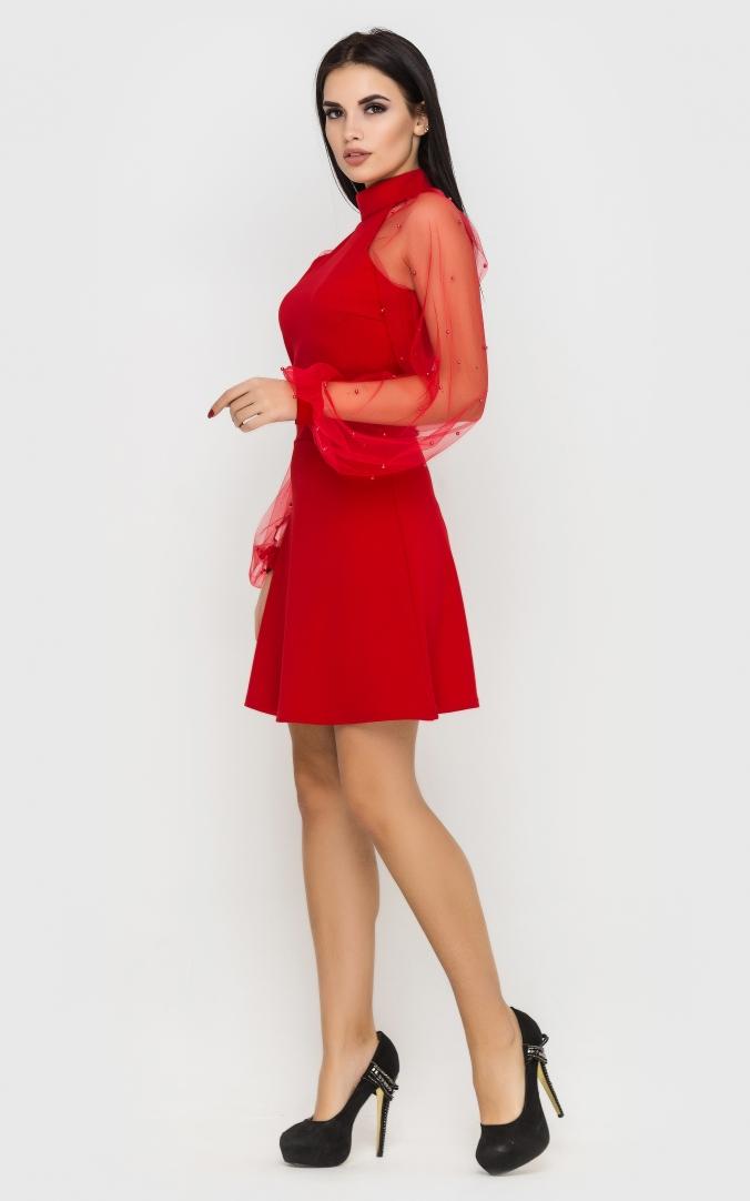 Вечірня коротка сукня (червона)