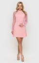 Evening short dress (pink)