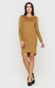 Stylish suede dress (brown)