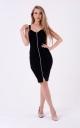 Стильна сукня з блискавкою (чорне)