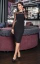 Midi evening dress (black)
