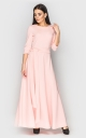 Evening dress to the floor (pink)
